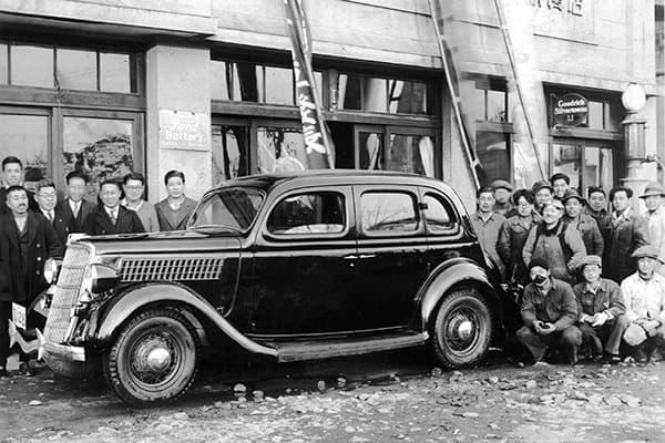 岩手自動車販売 創業当時の写真